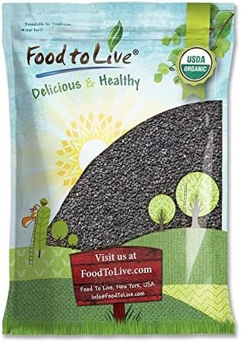 Organic Black Sesame Seeds, 16 Pounds - Raw, Unhulled, Non-GMO, Kosher, Vegan, Bulk, Kala Til