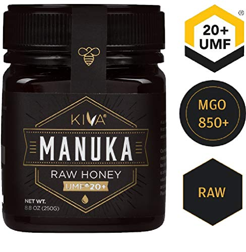 Kiva Raw Manuka Honey, Certified UMF 20+ (MGO 850+) - New Zealand (8.8 oz) (Honey Wild Forest)