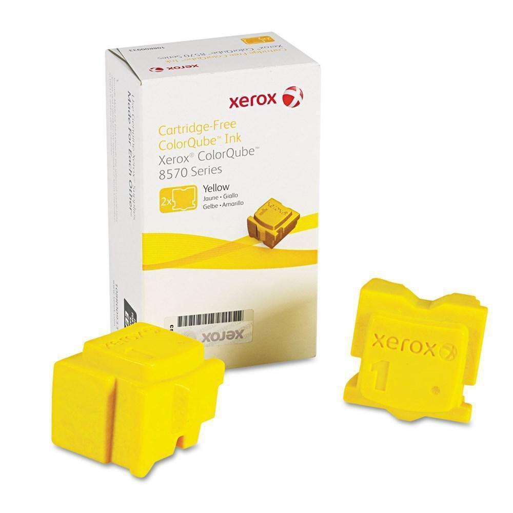 Xerox ColorQube 8570イエローOEMインク標準Yield (2 Sticks/ボックス) (8,800 Yield) B01N5O2HWJ