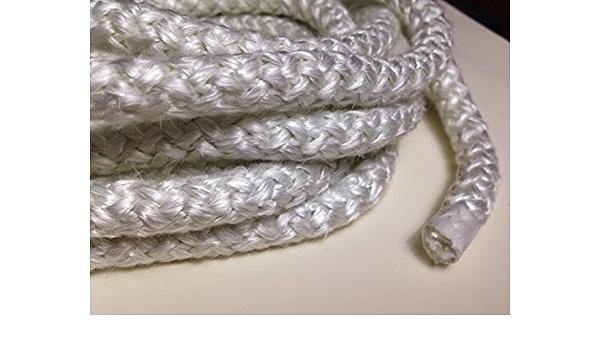 Fiberglass Boiler Rope 1//4 Round x 100ft Roll