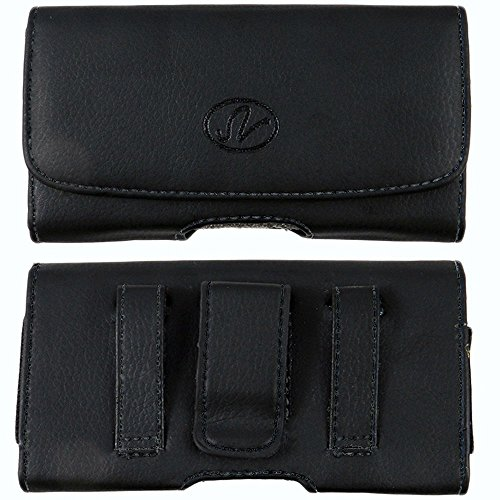 Leather Case Magnetic Closure Pouch Belt Loop & Belt Clip Holster for Samsung a840 / - Belt A840