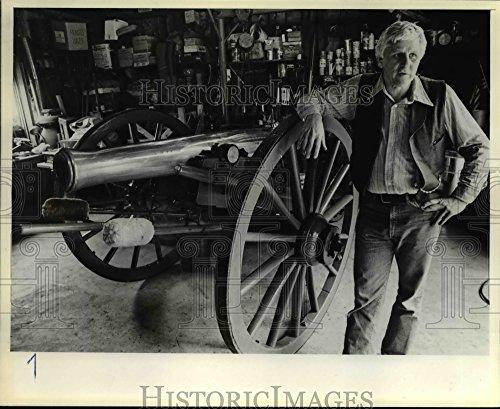 Civil War Cannon Pictures - Vintage Photos 1981 Press Photo Banks, Oregon-Rudy Marek-1863 Civil War cannon - orb82850