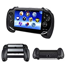 HDE Hand Grip Holder for PlayStation Vita Plastic Comfort Grip Cover with Port and Camera Access