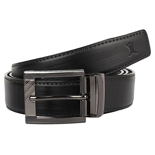 Creature Reversible PU-Leather Formal Black/Brown Belt For Men(Color-Black/Brown || Length-46 inches || BL-06)