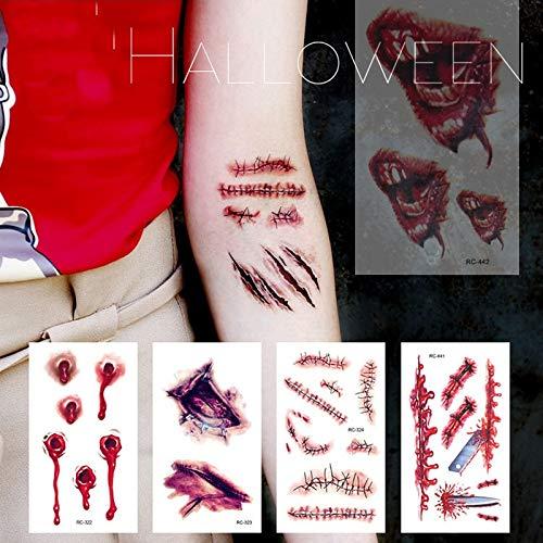 Etiquetas Engomadas Traumáticas De Los Tatuajes De Halloween 3D ...