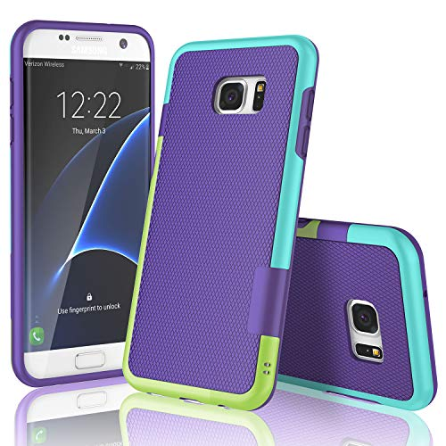 TILL S7 Edge Case, TILL(TM) Ultra Slim 3 Color Hybrid Impact Anti-Slip Shockproof Soft TPU Hard PC Bumper Extra Front Raised Lip Case Cover Compatible for Samsung Galaxy S7 Edge ()