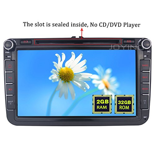 JOYING 8 inch 2GB Plug and Play Double Din Car Stereo for VW