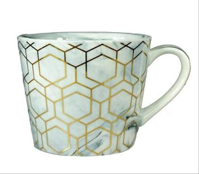 Tazas De Café De Mármol De 360ml con Diseño Geométrico De Oro De ...