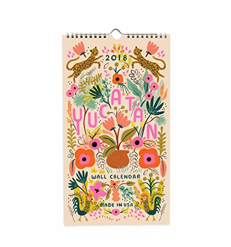 Rifle Paper CAL036  2018 Yucatan Calendar (Calendar Sassy)