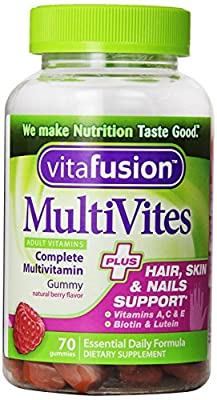 Vitafusion Multivites Plus Hair, Skin and Nails Support (70 Count)
