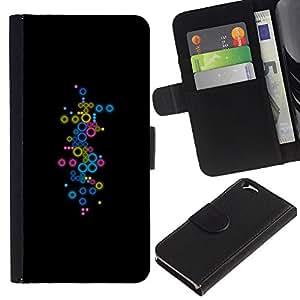EJOY---La carpeta del tirón la caja de cuero de alta calidad de la PU Caso protector / Apple Iphone 6 / --Pastel minimalista puntos sutiles