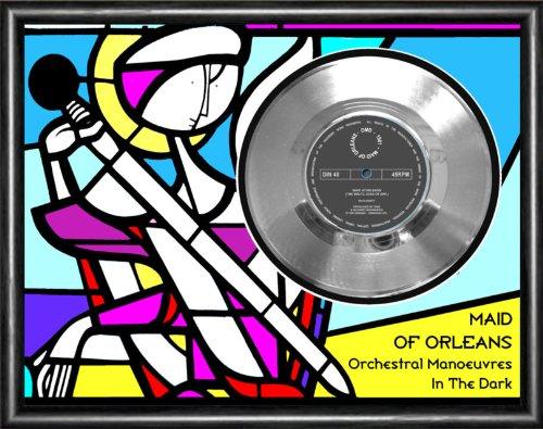 Omd Maid Of Orleans Silver Vinyl Record Framed Display (Best Of Omd Vinyl)