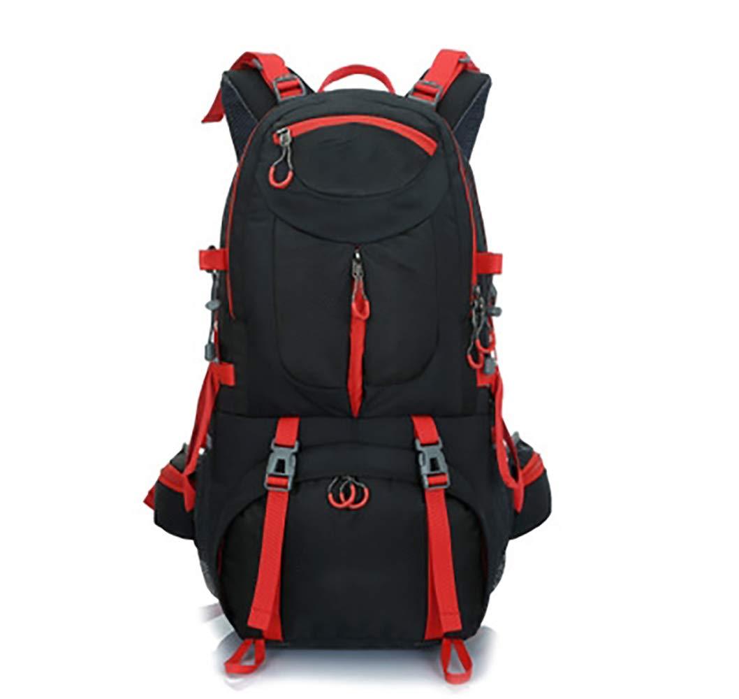 ZZSH 大容量 アウトドア スポーツ 旅行 登山バッグ 防水 ハイキング キャンプ バックパック 釣り 備品 Large ブラック B07G973FQL
