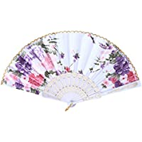 Froomer Folding Hand Fan Fabric Floral Wedding Party Chinese Summer Pocket Fan