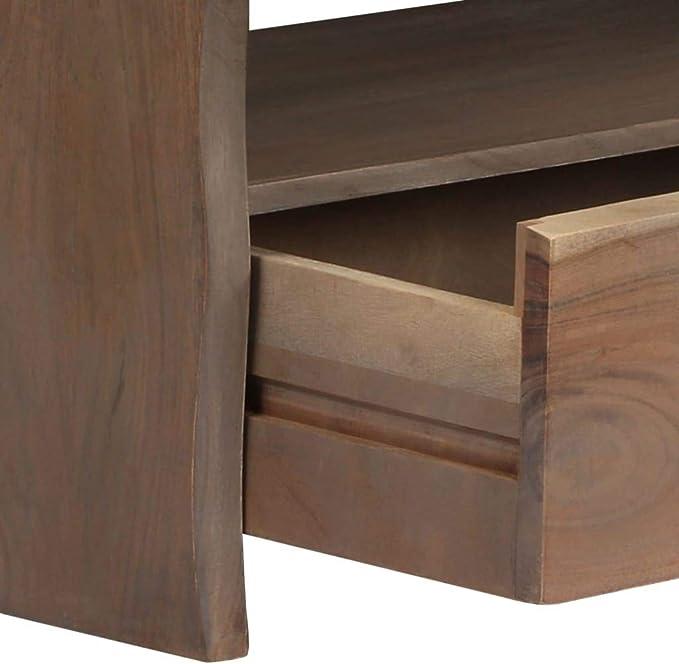 Table Basse Table d Assorti Acacia Massif Bord vidaXL Gris TJcK3ulF15