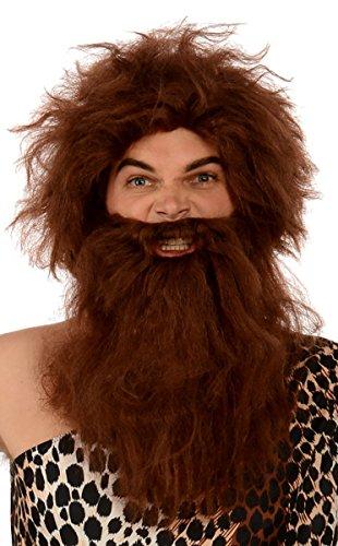 Kangaroo Costumes - Prehistoric Caveman Wig & Beard; -