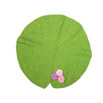 Soccik Baby Häkeln Stricken Frosch Hut Kostüm Lotus Blatt Decke ...