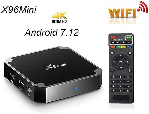 X96 Mini Android 7,1 TV Box 1GB RAM 8GB ROM AMLOGIC S905W Quad Core Support 2.4 G WiFi H. 265 4K Media Player: Amazon.es: Hogar