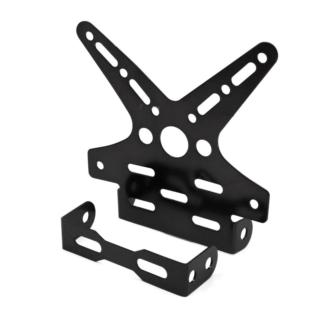 sourcingmap/® Noir Moto type queue fourchue Support plaque immatriculation r/églable Frame Stand