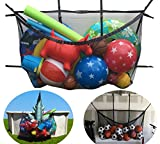 """MESH TITAN Pool Storage Bag - UPGRADED 6/2018! - Adjustable, Versatile Organizer Bag - For Pool, Fence, Deck, Garage, Gym - 60"""" pouch for floats, sports balls, inflatable rafts, toys, yoga, and more"""