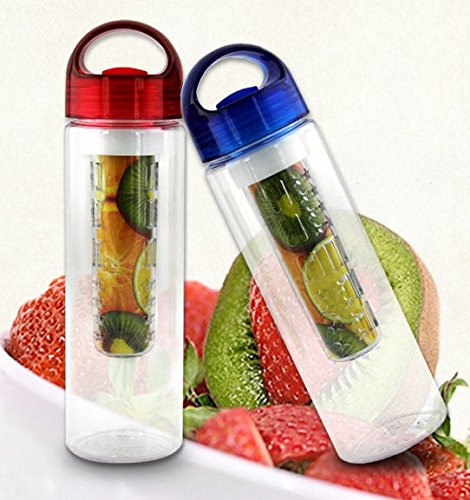Infuser Water Bottle Create Your Own Infused Water Lemonade Juice Iced Tea Sparkling Beverages Leak Proof Travel Water Bottle for Sports and Fitness Fans (Black)