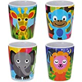 French Bull Jungle Kids Juice Cup, Set of 4