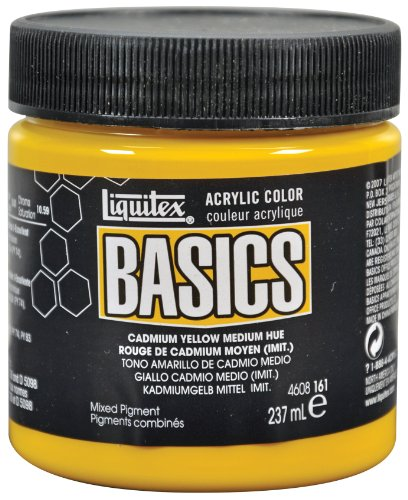Liquitex Basics Acrylic Paint 8-oz jar, Cadmium Yellow Medium Hue ()