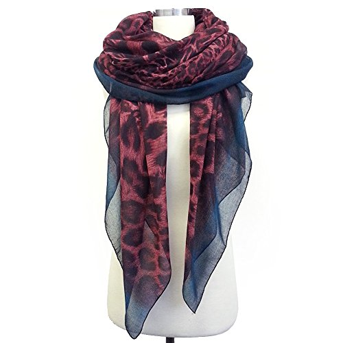 Styleinch Leopard Scarf (All Colors Available) (Red) (Cheetah Red)