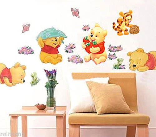 Winnie The Pooh Wallpaper (DIY Wall Stickers Winnie The Pooh Nursery Boy kids Baby Room Art Home Decals)