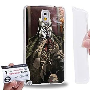 Case88 [Samsung Galaxy Note 3] Gel TPU Carcasa/Funda & Tarjeta de garantía - Hellsing Major Max SS-Sturmbannfuhrer 1927