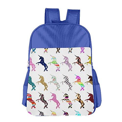 [해외]Unicorns Colorful Pattern School Backpack Children Shoulder Daypack Kid Lunch Tote Bags RoyalBlue / Unicorns Colorful Pattern School Backpack Children Shoulder Daypack Kid Lunch Tote Bags RoyalBlue