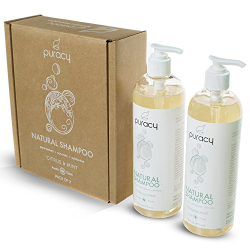 Puracy Natural Daily Shampoo Set [2-Pack], Sulfate-Free, Plant-Powered, Salon-Tested for All Hair Types, 16 Ounce Pump Bottle [Set of 2] by Puracy (Image #2)