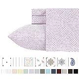 California Design Den Juego de sábanas de 400 Hilos, 100% algodón de Fibras largas, Sunrise Lavender, Individual Extra Grande