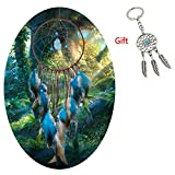 AWAYTR Forest Dreamcatcher Gift Handmade Dream Catcher Net with Feathers Wall Hanging Decoration Ornament