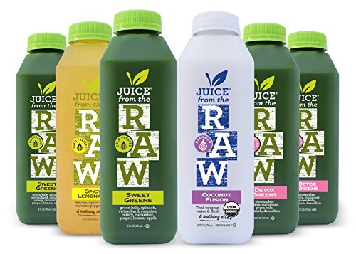 Juice From the RAW 3 Day ORGANIC Juice Cleanse - Forever Cleanse - 18 Bottles - FREE 2-Day Delivery