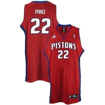 1b5a1f04cf06 Amazon.com   adidas Tayshaun Prince Jersey Red Swingman  22 Detroit ...