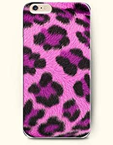 Black And Purple Leopard Grain In Pink Background - Animal Print - Phone Cover for Apple iphone 4 4s ( inches...