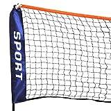 Top!!!Höhenverstellbar Badmintonnetz Federballnetz Minibadmintonnetz Tennisnetz mit Metallstab und Seile Popamazing (5 Meter)