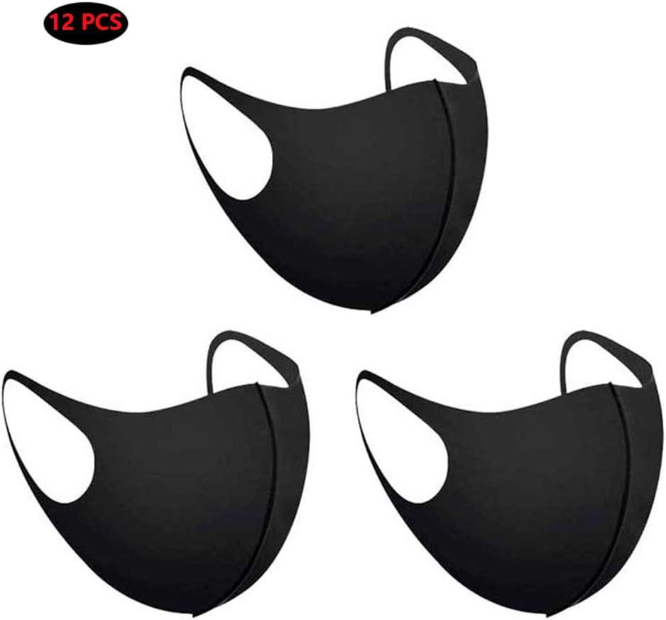 FSGD A Prueba de Polvo máscaras, 3D Negro Protector Solar en Tres Dimensiones a Prueba de Polvo de Esponja Transpirable máscara 12PCS Lavables
