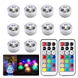 Best Bulb Lights With IR Remotes - 10x Submersible LED Lights, Multicolor Waterproof Bath Underwater Review