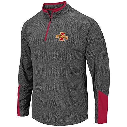 (Colosseum Mens Iowa State Cyclones Tasmania Quarter Zip Wind Shirt - L)