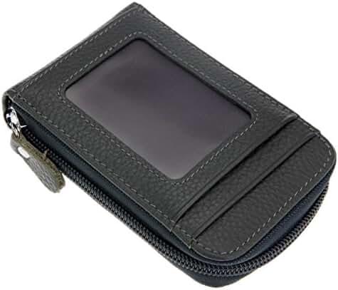 RFID Blocking Genuine Leather Credit Card Organizer Case,HNHC Wizard Travel Wallet