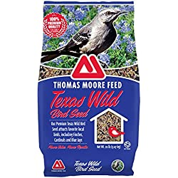 TMF 100% Premium Quality Texas Wild Bird Seed , 20 lb