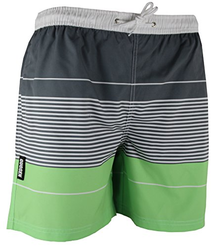GUGGEN MOUNTAIN Herren Badeshorts Beachshorts Boardshorts Badehose gestreift *High Quality Print* Farbe gestreift M