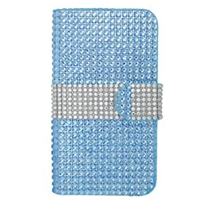 Cellphone Cover for LG Optimus L90 LEATHER POUCH FDS77 lite BLUE