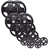 Body Solid Rubber Grip Olympic Weight Plates