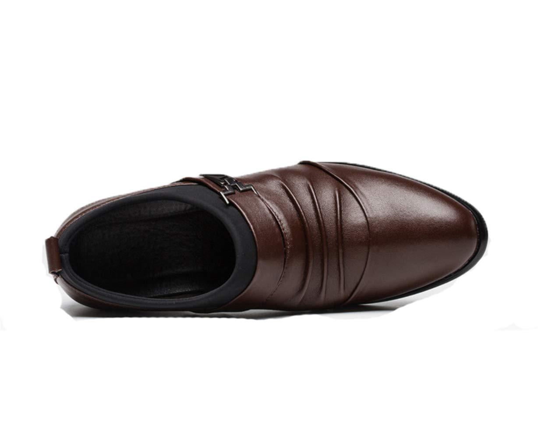 Fuxitoggo Scarpe con Fibbia da da da Uomo, Tallone Nascosto, Slip sulle Scarpe da Lavoro Casual da Ufficio (colore   Marrone, Dimensione   EU 43) c50dd3