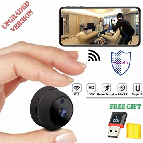 Spy Camera Wireless Hidden - WiFi Camera VISWALLY HD 1080P - Mini Camera A10 Plus - Hidden Home Cop Cam - Motion Activated Night Vision Indoor Video Recorder Baby Elderly Pet Nanny Cam for All Device -