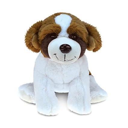 Amazon Com 1 Piece Kids 7 Inch Small Brown White St Bernard Dog