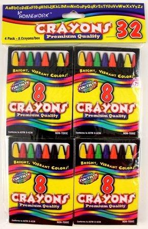 Crayons - 8 count box - 4 boxes/pack 48 pcs sku# 1174781MA by DDI
